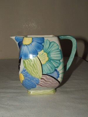 Susie Cooper-4- Grays  Art Deco Floral Super Shaped Jug Truly Stunning