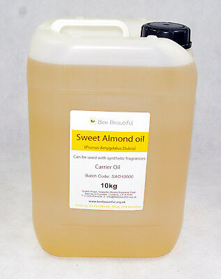 Sweet Almond Oil 100% Pure, Natural, Cold Pressed Carrier Oil 30ml to 10kg