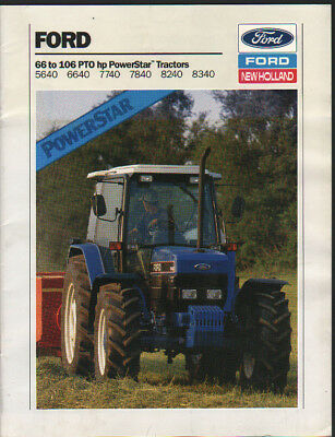 Ford 66 to 106hp PowerStar 40 Series Tractor Brochure Leaflet
