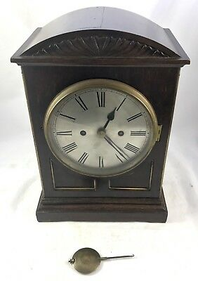 Lovely Antique Oak Fusee Musical Bracket Clock Winterhalder & Hofmeier W & H