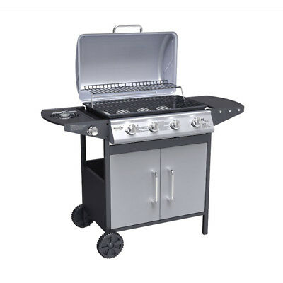 BillyOh Matrix 4+1 Hooded Gas BBQ Barbecue Grill with Side Burner Storage
