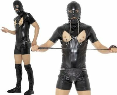 Mens Comedy Bondage Gimp Fancy Dress Costume Stag Night Suit Outfit by Smiffys