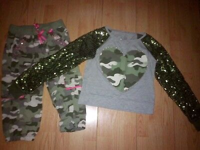 Justice Camouflage 2 Piece Girls Outfit Size 10-12