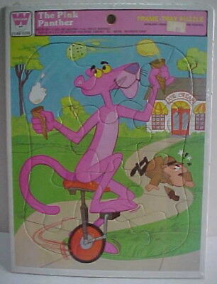 Vintage Sealed 1979 Pink Panther UNICYCLE Juggling ICE CREAM + INSPECTOR Puzzle