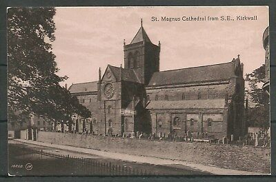 Postcard : Orkney Isles Kirkwall St Magnus Cathedral from SE RP