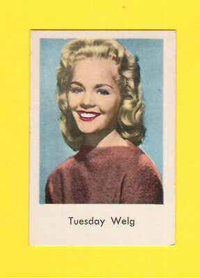 Tuesday Weld Vintage 1960s Movie Film Star Swedish Card