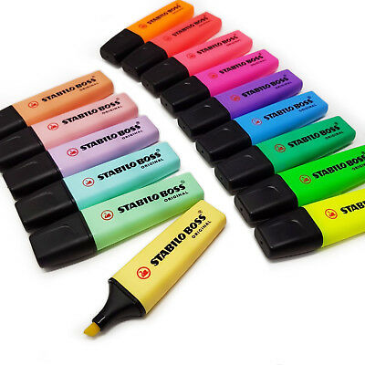 Stabilo Boss Highlighter Pens - Original & Pastel Highlighters- Buy 3 Get 1 Free