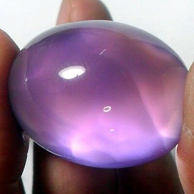 49ct Huge Gem Violet Purple CHALCEDONY Oval Cab ~Natural Turtle Shell Pattern~
