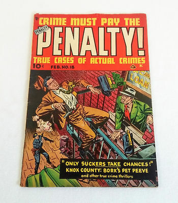 1951 pre-code CRIME MUST PAY THE PENALTY #18