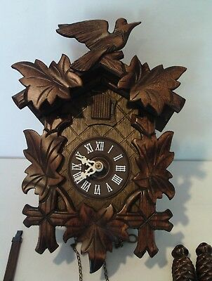 VINTAGE BLACK FOREST REGULA CUCKOO CLOCK No. 859 -  MADE IN WEST GERMANY