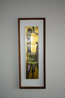 Mid Century Modern Tile Wall Art Hanging Harris Strong Style Vintage 60s