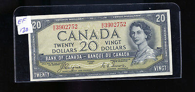 1954 Bank of Canada $20 Devil's Face Coyne Towers EF. BL4210