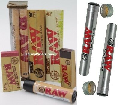 RAW ROLLING PAPER KING SIZE ROLL KIT -ROLLER+PAPERS +TIPS +Lighter+Storage Tubes