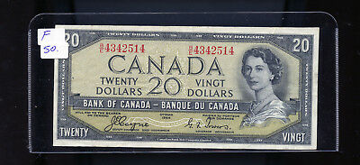 1954 Bank of Canada $20 Devil's Face Coyne Towers F. BL4215