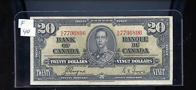 1937 Bank of Canada $20 Coyne Towers F. BL4217