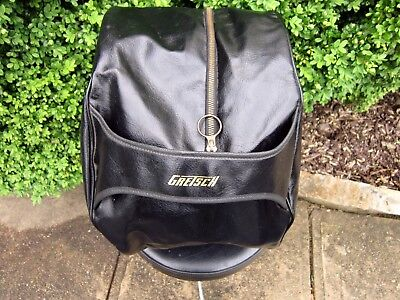 GRETSCH ROUND BADGE  DRUM TOM CASE 8x12 ZIPPERED BAG COVER GENUINE 1960'S