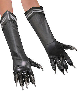 Civil War Captain American Black Panther Adult Black Claw Gloves Adult