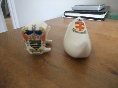 Lovely Pieces Of Crested China Featuring Rochester And Blackpool.