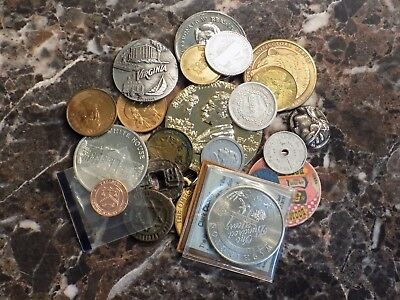 Lot of Various Tokens Trade Tax Commemorative Novelty Vintage Tokens Exonumia
