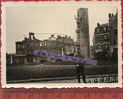 a33 photo orig al ARRAS WEHRMACHT MONUMENT MORTS 14 18 prox GARE FRANCE 1940 ww2