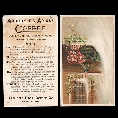 1880s ARBUCKLE's ARIOSA COFFEE New York Victorian Trade Card