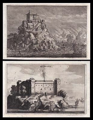 1670 China Asia Asien castle Burg Schiffe view Kupferstich antique print Nieuhof