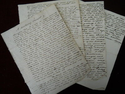 Six pages of handwritten prayers, probably dating to the early to mid 1800s