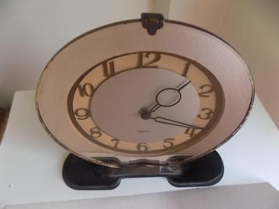 Art Deco Stunning Large Mirrored SMITHS Windup Clock Perfect Working Order