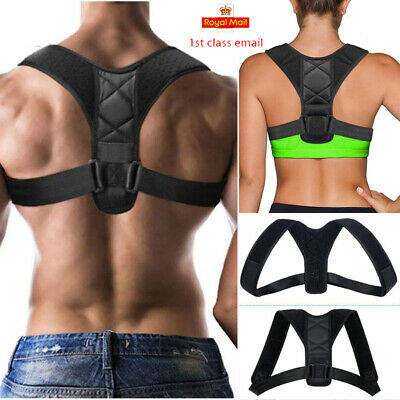 Posture Corrector Adjustable Clavicle Back Support Neck Brace for Men & Women HT