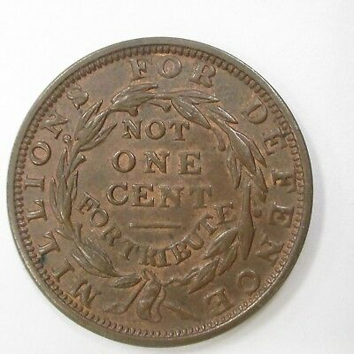 1837 Hard Times Token Not One Cent