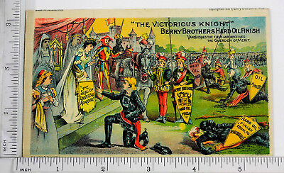Victorian Trade Card - Berry Brothers Hard Oil Finish.- 001
