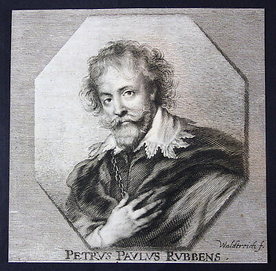 1700 Petrus Paulus Rubens Peter Paul Maler painter Kupferstich etching Portrait