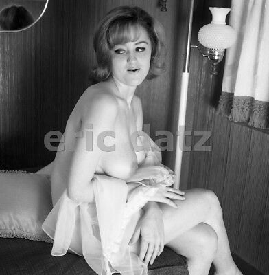 1960's Ron Vogel Negative, busty nude pin-up girl Elaine Knapp, t904645