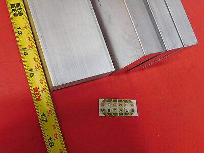 "4 Pieces 1""x 3"" ALUMINUM FLAT BAR 16"" long 6061 T6511 Solid Plate Mill Stock"