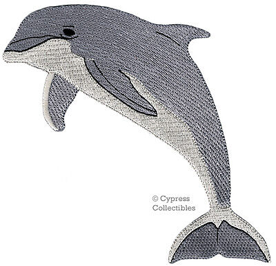 BOTTLENOSE DOLPHIN BIKER PATCH iron-on embroidered OCEAN FISH PORPOISE scuba NEW