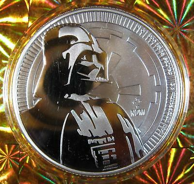 2017 1 oz Niue Silver $2 Star Wars Darth Vader BU Sealed Only 250,000 Mintage!