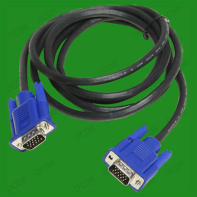 SVGA Lead 6FT for Mac to LCD TFT Monitor Screen lot VGA PC Monitor Cable