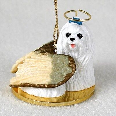 MALTESE Dog ANGEL Tiny One Ornament Figurine Statue