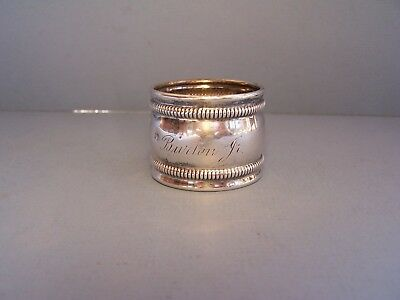 Antique Watson Co. Sterling Silver Napkin Ring With Monogram