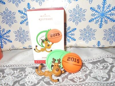 Hallmark Basketball Star 2015 Christmas Keepsake Ornaments Reindeer Personalize