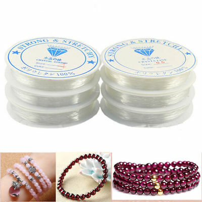 Elastic Stretch Beading Cord Bracelet Crystal String Thread Roll Making Jewelry