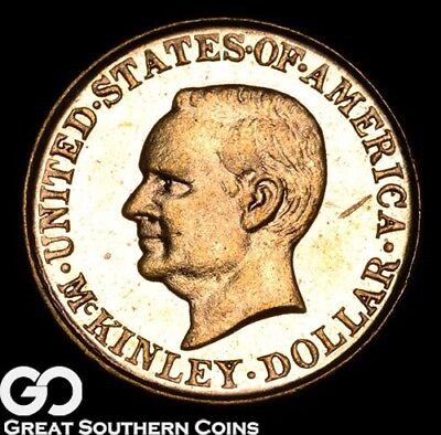 1917 Commemorative Gold Dollar, $1 McKinley, Very Proof-Like, ** Free Shipping!