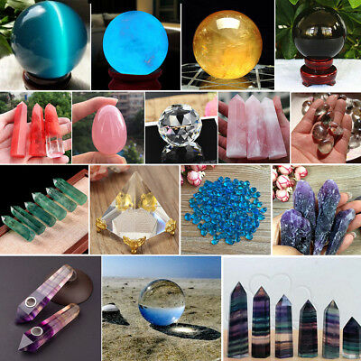 Natural Clear Glass Crystal Ball Healing Sphere Photography Props Ball Gifts Lot