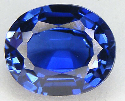 3,66CT. EXCELLENT SAPHIR BLEU CORINDON DE SYNTHESE T. OVALE 10,1x8,3 MM.