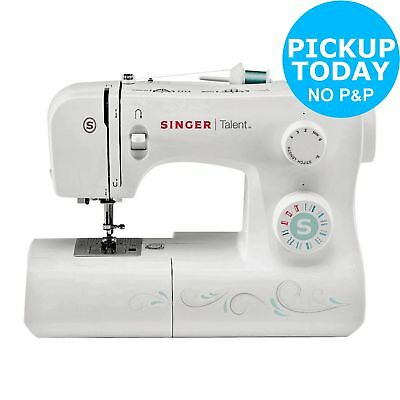SINGER 40 TALENT Sewing Machine White RF40 Box Cover And Unique Argos Mini Sewing Machine Instructions