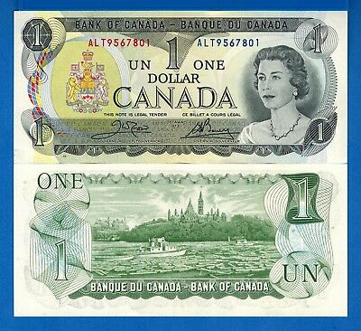 Canada P-85 One Dollar Year 1973 Uncirculated Banknote
