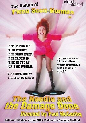 Fiona Scott - Norman in The Needle & The Damage Done Australian Tour Promo Card