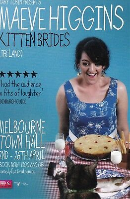 Maeve Higgins Kitten Brides Australian Tour Promo Flyer Postcard 2009