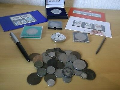 JOB LOT ANTIQUE/VINTAGE COLLECTABLES WITH SILVER 99p N1 JX