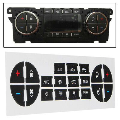 Dual Climate Control Heater AC Button Repair Kit PVC Decal Sticker For GM Tahoe